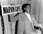 Marvin Gaye Holding a Sign with His Name